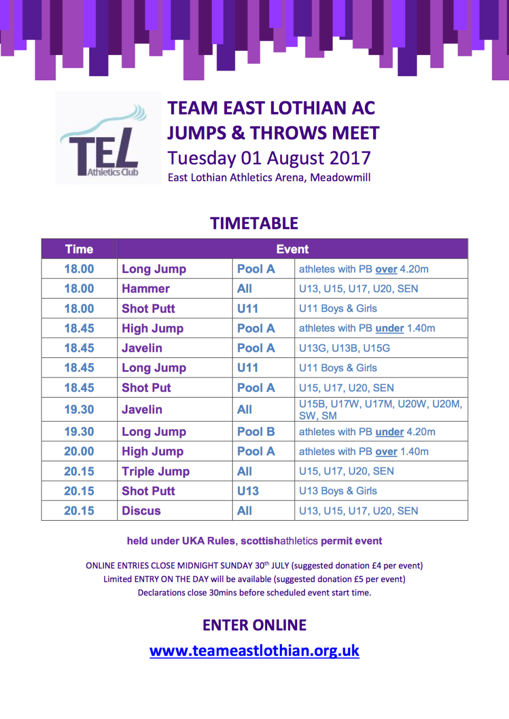 TEL Jumps & Throws
