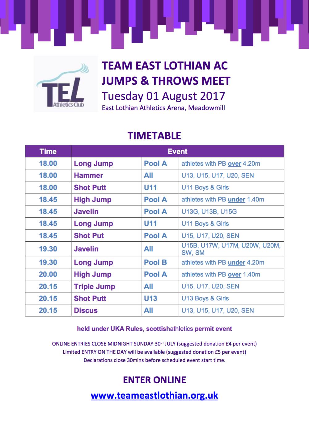 TEL Jumps & Throws