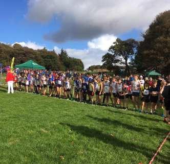 East District XC relay start line
